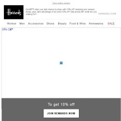 [Harrods] 10% Off* Your Favourite Designers – Ends Today