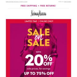 [Neiman Marcus] Hurry! Extra 20% off Last Call Sale prices