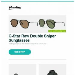 [Massdrop] G-Star Raw Double Sniper Sunglasses, RH Preyda Sportsman Honing Kits, Showers Pass IMBA Jacket and more...