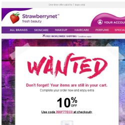 [StrawberryNet] Complete your order with Extra 10% OFF