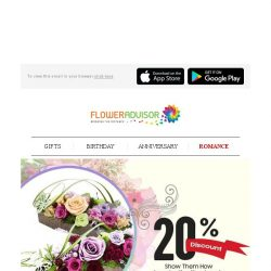 [Floweradvisor] For Your Endless Love: 20% Off For These Everlasting Preserved Flowers!