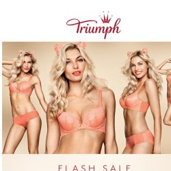 [Triumph] Ends Midnight: 50% OFF Signature Styles!