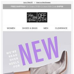 [Saks OFF 5th] Repeat after us: NEW. BOOT. MARKDOWNS.