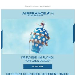 [AIRFRANCE] Irresistible OH LALA Deals for you!