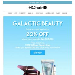 [HQhair] Galactic Beauty | Save 20% Inside + Free Gift