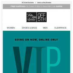 [Saks OFF 5th] ZAC Zac Posen on your mind? + Don't forget: your exclusive $30 OFF expires soon...