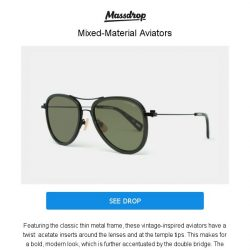 [Massdrop] G-Star Raw Double Sniper Sunglasses: Vintage Styling & Modern Materials for $24.99