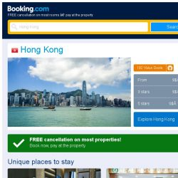 [Booking.com] Deals in Hong Kong from S$ 162