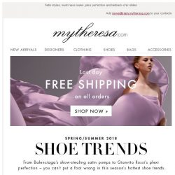 [mytheresa] 4 shoe trends that will have you head over heels... + Last day: free shipping