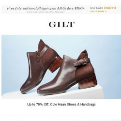 [Gilt] Cole Haan Accessories: Up to 70% Off, Laura Mercier and More Start Now