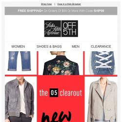 [Saks OFF 5th] On these markdowns, get set, GO!