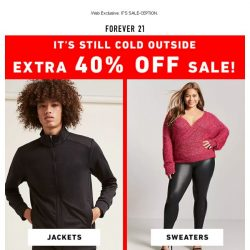 [FOREVER 21] EXTRA 40% OFF ON-SALE ITEMS