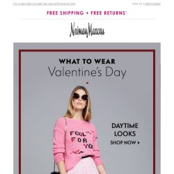 [Neiman Marcus] What to wear on Valentine's Day