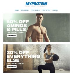 [MyProtein] 💪 50% Off All Aminos and Pills!