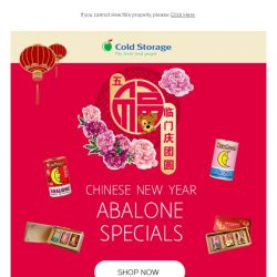 [Cold Storage] Chinese New Year - Abalone Special
