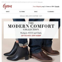 [6pm] Up to 60% off Ahhhh-mazing Comfort Shoes!