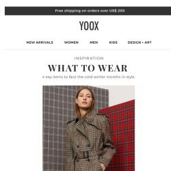 [Yoox] Inspiration: coats, sweaters and much more