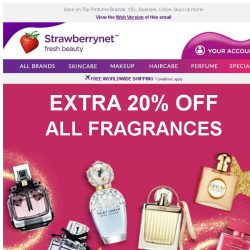 [StrawberryNet] , Last Day to Save Extra 20% on ALL Fragrances Sitewide!
