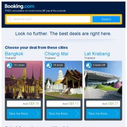 [Booking.com] Bangkok, Chiang Mai, or Lat Krabang? Get great deals, wherever you want to go