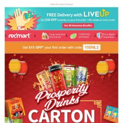 [Redmart] Carton deals on our festive drinks... delivered to your doorstep, too!