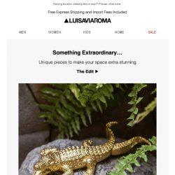 [LUISAVIAROMA] Special objects for the home