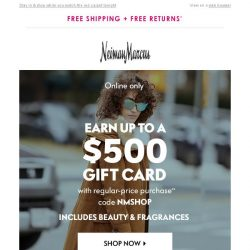 [Neiman Marcus] $100 gift card! 3 days only