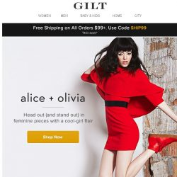 [Gilt] alice + olivia: Boring is just not an option