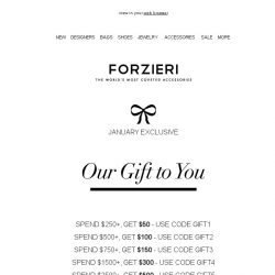 [Forzieri] Get $100 Off Now