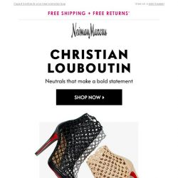 [Neiman Marcus] New Christian Louboutin shoes you crave
