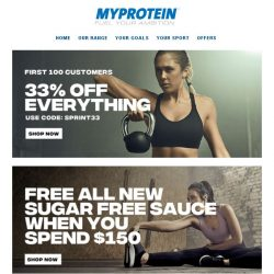 [MyProtein] 🔥 Exclusive for the First 100 Customers!