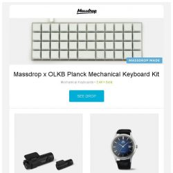 [Massdrop] Massdrop x OLKB Planck Mechanical Keyboard Kit, BlackVue DR750S 2-Channel Dash Camera, Orient Bambino Automatic Watch and more...