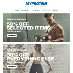[MyProtein] ⚠️ The 50% Off List is Back!