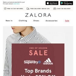 [Zalora] The A-list: Up to 50% off top brands!