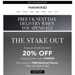 [Mankind] The Stake Out | Save 20% Inside + Free Gift