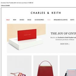[Charles & Keith] THE JOY OF GIVING | Shop Now