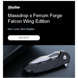 [Massdrop] Massdrop x Ferrum Forge Falcon Wing Edition: Available Now