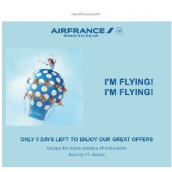 [AIRFRANCE] Last days to enjoy our OH LALA Deals!