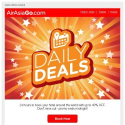 [AirAsiaGo] 👉 Hey, these deals will expire at midnight!