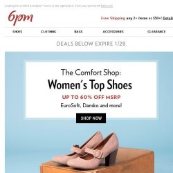 [6pm] Top-Selling Comfort Shoes up to 60% off!