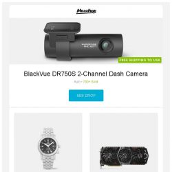 [Massdrop] BlackVue DR750S 2-Channel Dash Camera, Glycine Airman Automatic Watch, MSI GeForce GTX 1080 Ti GAMING X TRIO and more...
