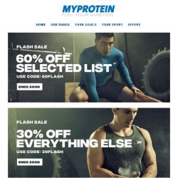[MyProtein] 60% Off Deal Ends Tonight ⏳