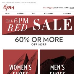 [6pm] Are you ready!? The 6pm Red Sale is here!