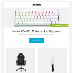 [Massdrop] Vortex POK3R LE Mechanical Keyboard, AKRacing 2018 Office Series Chairs – Massdrop Debut, Victorinox Fibrox Pro Series Knives and more...