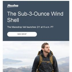 [Massdrop] Massdrop Veil Wind Shell: Available Thursday