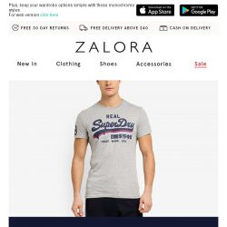 [Zalora] New collection from Superdry!