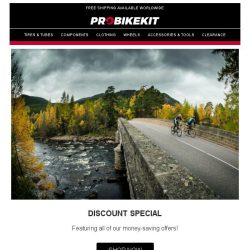 [probikekit] Discount special: Save on accessories, clothing, shoes, and more!
