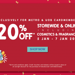 Metro: Enjoy 20% OFF Storewide & Online Including Cosmetics & Fragrances