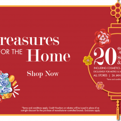 Metro: Enjoy 20% OFF Storewide and Online Including Cosmetics & Fragrances!