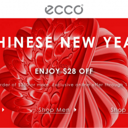 ECCO: CNY Sale with $28 OFF Your Order