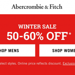 Abercrombie & Fitch: Winter Sale with Up to 60% OFF Select Styles